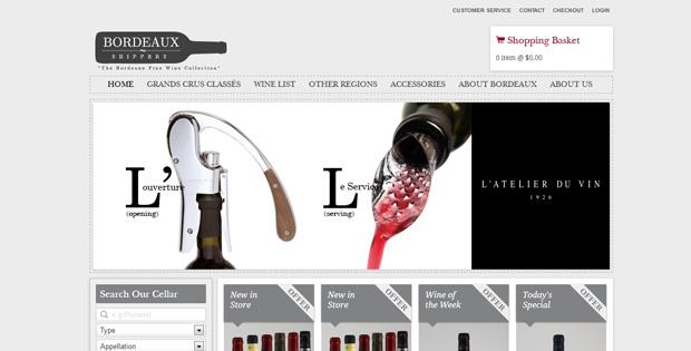 Bordeaux Shippers - Ecommerce website by SiteSuite