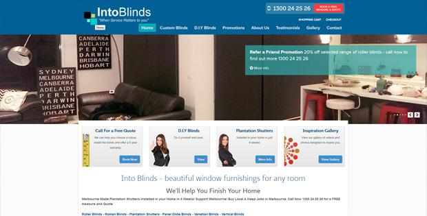 Into Blinks - Custom Design Website by SiteSuite