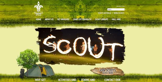 Scouts Australia (ACT) - Website Design by SiteSuite
