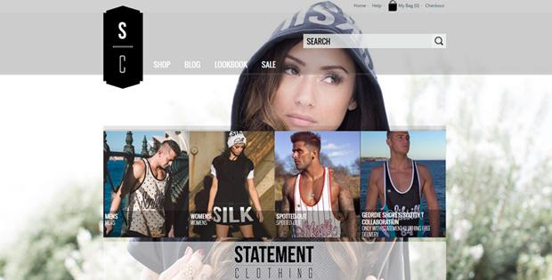 Statement Clothing - Ecommerce Website by SiteSuite