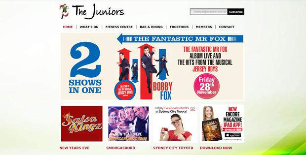 The Juniors - Website Design by SiteSuite