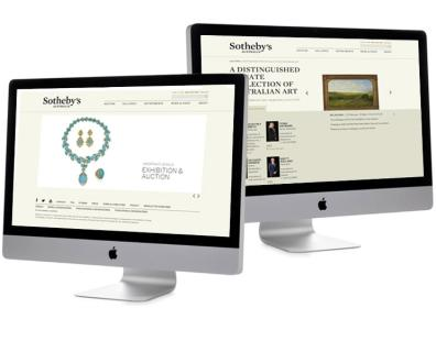 Sothebys - Design, and custom auction listing module