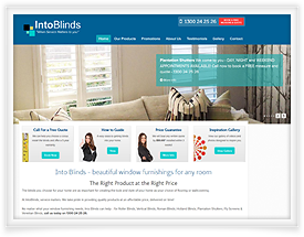 Ecommerce website for Into Blinds