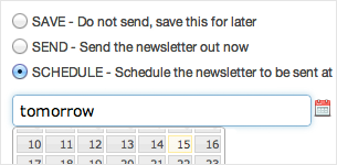 Scheduled email campaigns