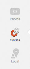 Google+ uses Circles in a similar way to Facebook