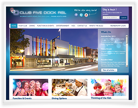 Club Five Dock website design by SiteSuite