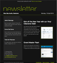 Email Newsletter Templates included as standard