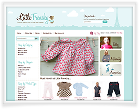 Little Frenchy website design and shopping cart software by SiteSuite