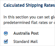 set shipping rates