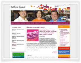 Ashfield Council NSW website design by SiteSuite