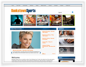 Bankstown Sports Club website design by SiteSuite