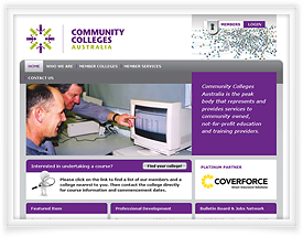 Community Colleges website development by SiteSuite