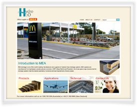 Hydro H2o website design and online catalogue software by SiteSuite