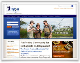 iFly Fishing website design and shopping cart software by SiteSuite
