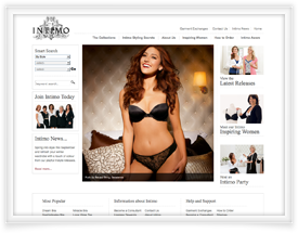 Intimo website design and shopping cart software by SiteSuite
