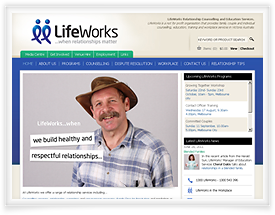 Lifeworks website design and shopping cart software by SiteSuite