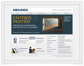 Deutscher Menzies website design and shopping cart software by SiteSuite