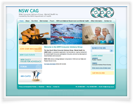 NSW Consumer Advisory Group website design by SiteSuite