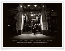 Sepia Restaurant website design by SiteSuite