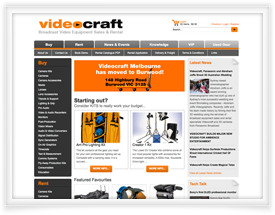 Video Craft website design and shopping cart software by SiteSuite