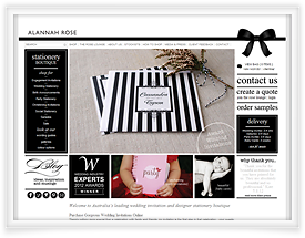 Alannah Rose website design and shopping cart software by SiteSuite