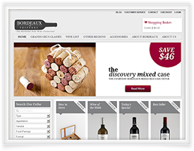 Bordeaux Shippers website design and shopping cart software by SiteSuite