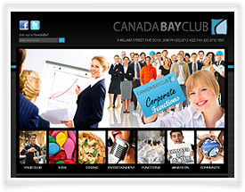 Canada Bay Club's website design by SiteSuite