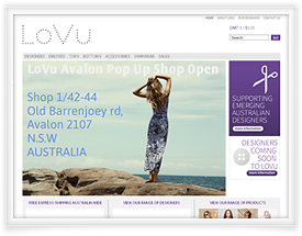 Lovu shopping cart software by SiteSuite