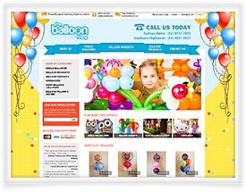 Ecommerce website for The Balloon Shop