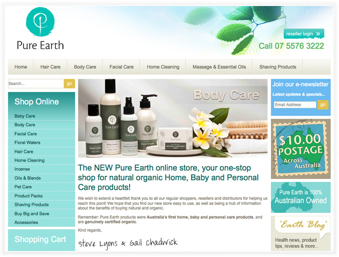 Pure Earth online store